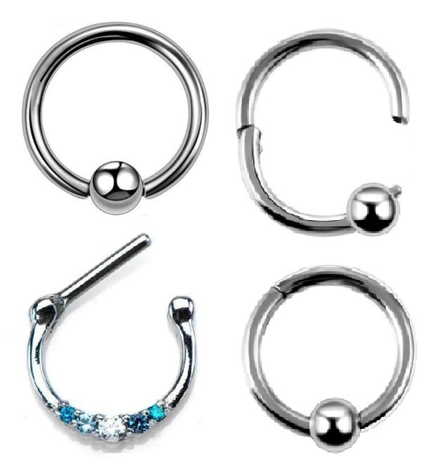 Украшения кликер, кольцо и обычное кольцо с шаром